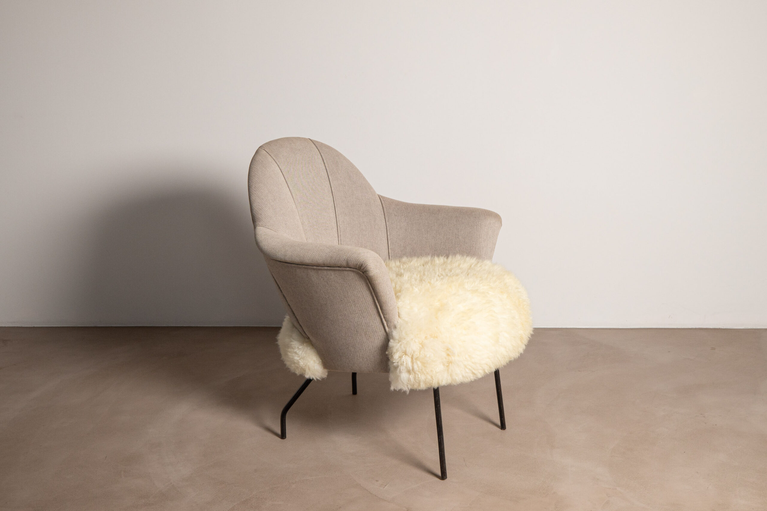 Chair with Lamb Fur